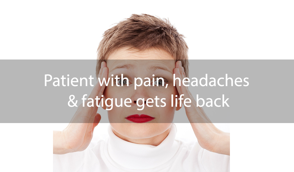 Patient with headaches, pain and fatigue recovers with NeuroMetabolic Integration program